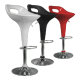 Tabouret de bar design rouge noir blanc