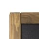 Chevalet haut en ardoise et bois panneaux noirs