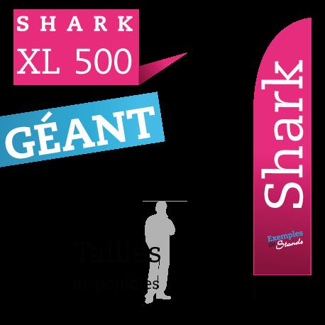 beachflag geant 5 mètres pas cher Shark XL 500