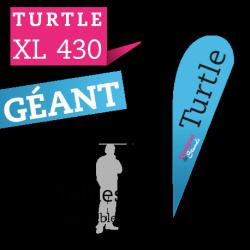 Drapeaux publicitaire géant TURTLE XL430
