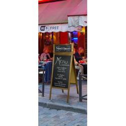 Chevalet ardoise avec imposte pour restaurant