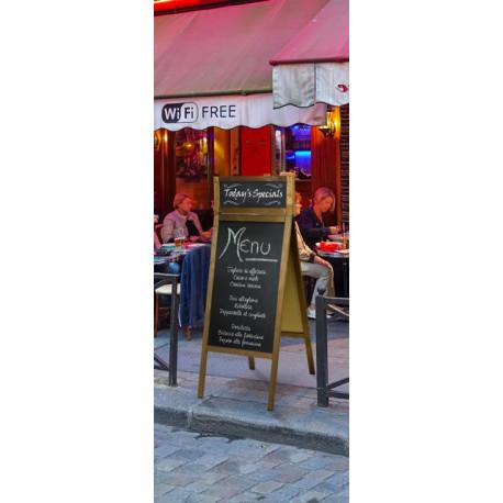 Chevalet ardoise sur trottoir pour restaurant et publicité