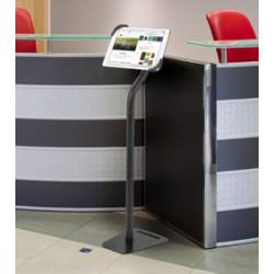 Porte tablette ipad métal noir ou blanc rotation360 avec verrouillage