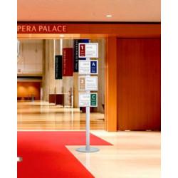 Porte document 4 visuels A4 simple ou double face sur pied