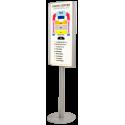 Porte affiche lumineux format B2 50x70cm