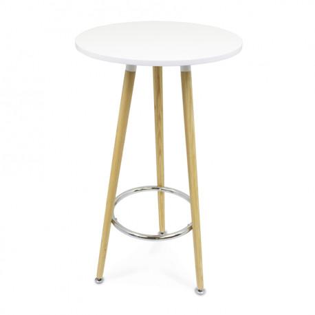Mange debout table haute plateau bois rond