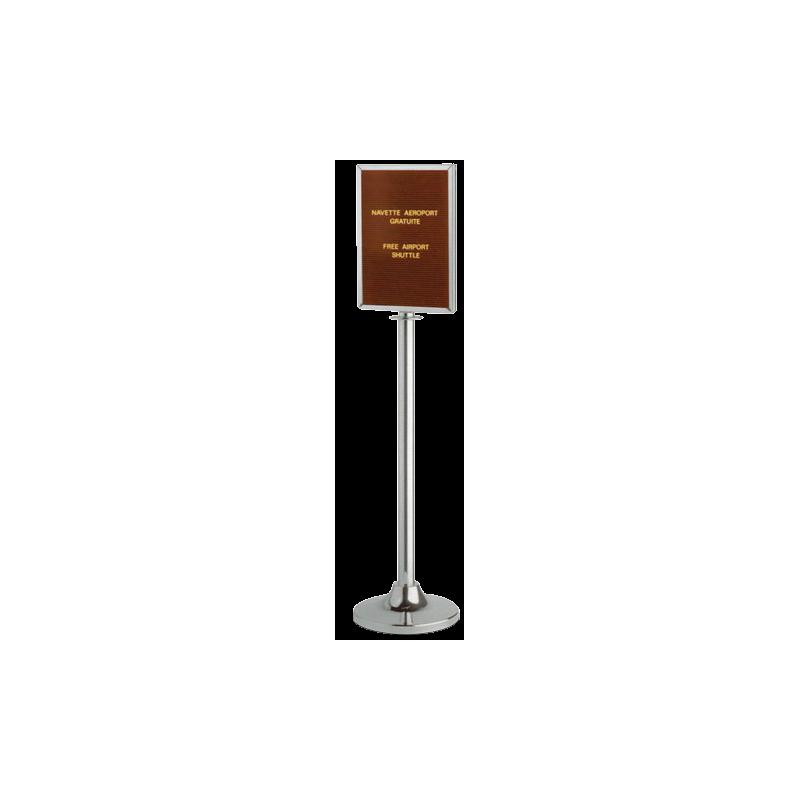 Poteaux pour cordage avec panneau pas cher for Exemple de stand