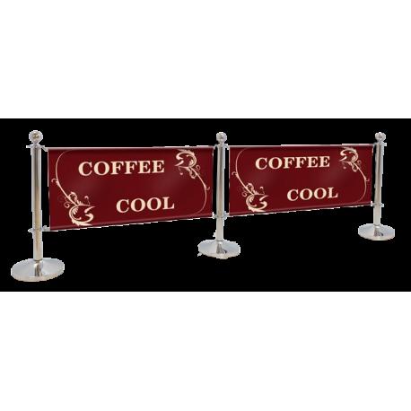 Barri re de terrasse de caf et restaurant pas cher for Table exterieur restaurant