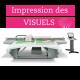 Impression de visuel sur feuille PVC pour poteaux à socles