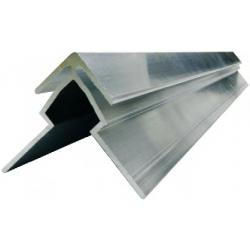 Profilé d'angle en aluminium pour fixation de panneaux Dibond 3mm