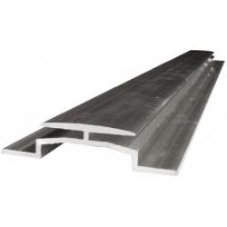 Profilé de jonction aluminium pour fixation de panneaux Dibond 3mm