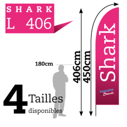Beach Flag pas cher Shark L406