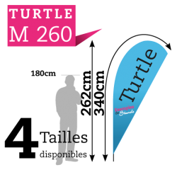 Beach flag TURTLE M260