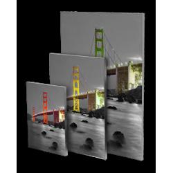 Cadre carré en aluminium avec impression format 145x145cm