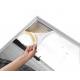 Cadre alu avec impression format 140x250cm
