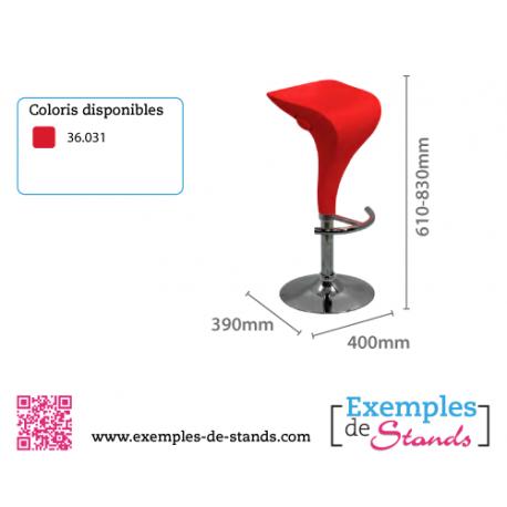 tabouret pour salon bar stand expo couleur rouge design. Black Bedroom Furniture Sets. Home Design Ideas