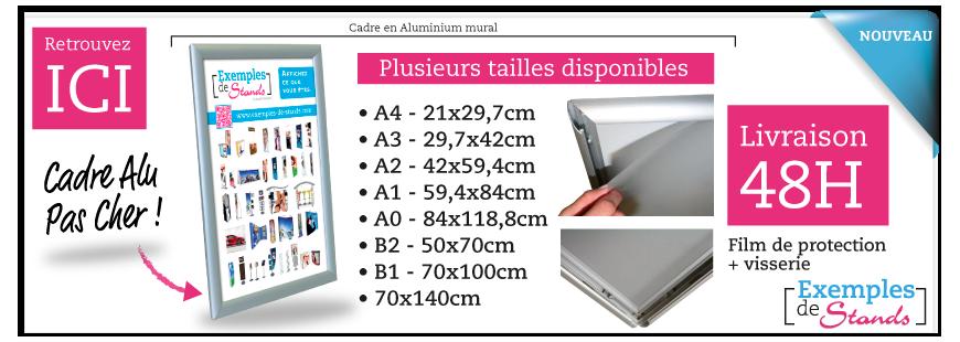Cadre aluminium clic-clac